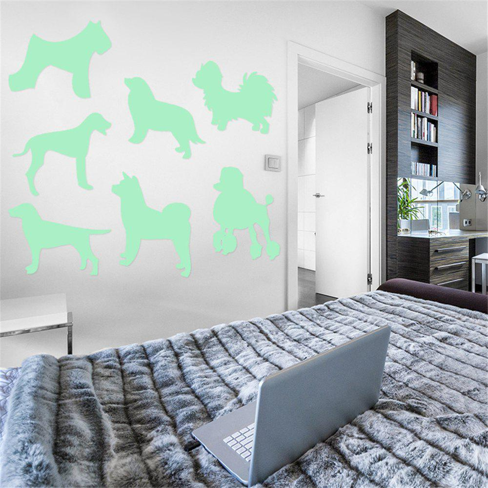 Affordable Noctilucent Engraving Adorable Dogs Cartoon Switch Wall Sticker
