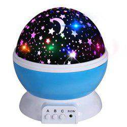 Automatic Rotary Star Projector Moon Colorful USB Led Night Lights -