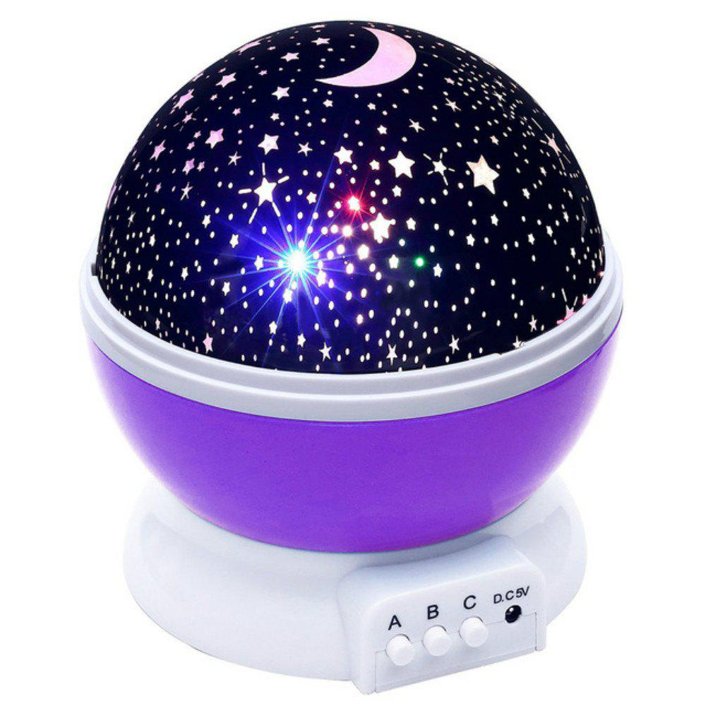 Shops Automatic Rotary Star Projector Moon Colorful USB Led Night Lights