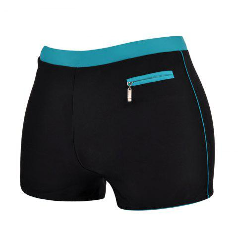 Trendy Men's Professional Quick-Drying Boxer Swimming Trunks