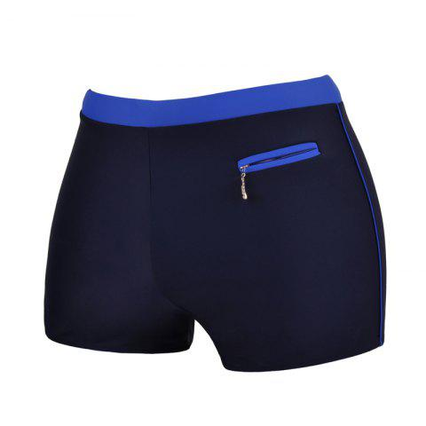Fancy Men's Professional Quick-Drying Boxer Swimming Trunks