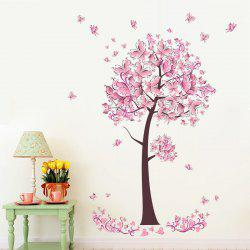 YEDUO Butterfly Flower Tree Wall Stickers Decals Girls Women Bedroom Decor -