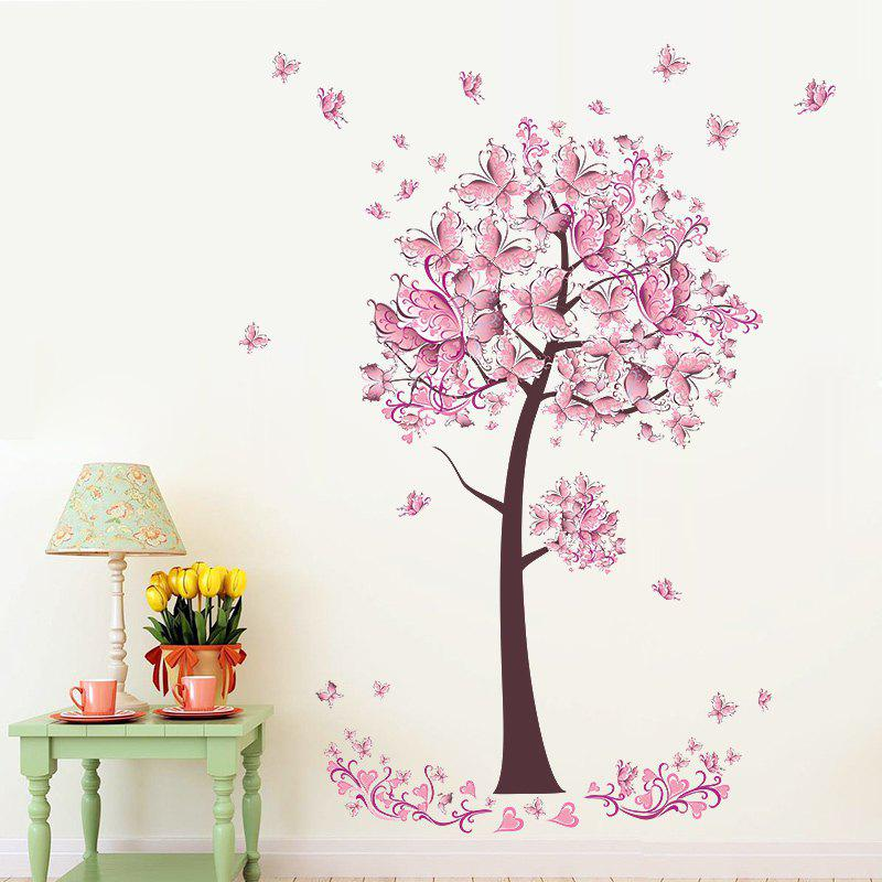 Fancy YEDUO Butterfly Flower Tree Wall Stickers Decals Girls Women Bedroom Decor