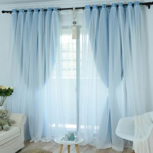 KoreanLace Full Shade Pure Curtains Finished Products Simple Modern Windows -