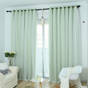 KoreanLace Full Shade Pure Rideaux Produits finis Windows modernes simples -