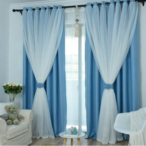 Chic KoreanLace Full Shade Pure Curtains Finished Products Simple Modern Windows