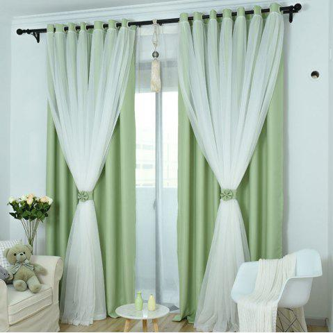 KoreanLace Full Shade Pure Rideaux Produits finis Windows modernes simples