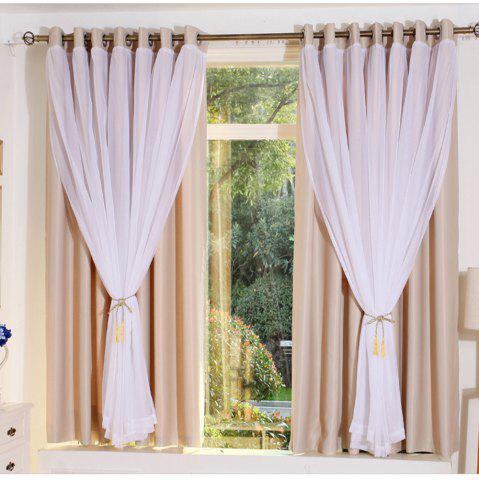 Sale KoreanLace Full Shade Pure Curtains Finished Products Simple Modern Windows