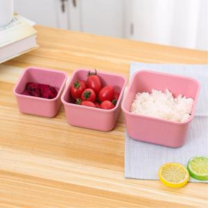 Creative Fresh-Keeping Students with Wheat Straw 3 in 1 Lunch Box -