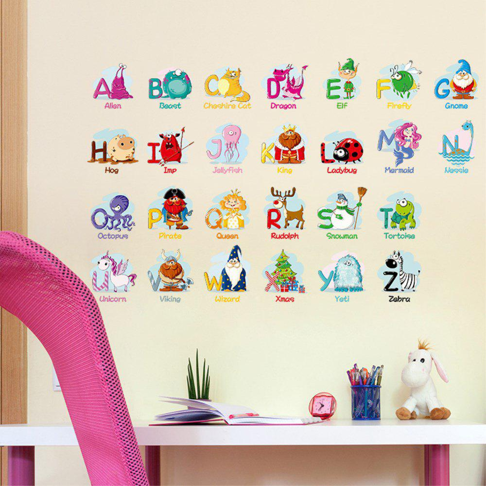 Online Creative Decoration Cartoon 3D Alphabet Wall Sticker