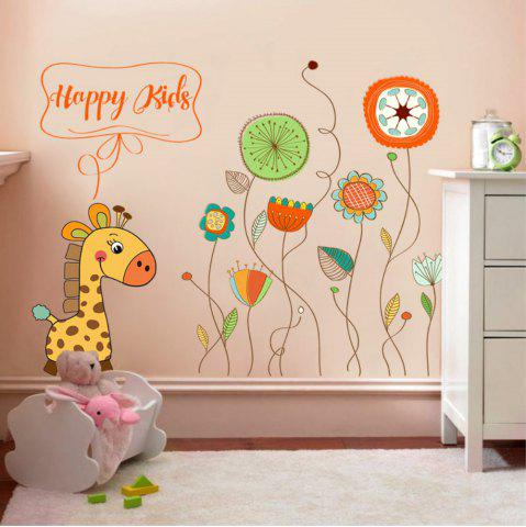 Décoration créative Cartoon 3D animaux et plantes Wall Sticker