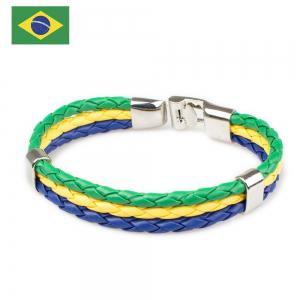 2018 Fashion National Flags Knitted Wrist Chain Bracelets -