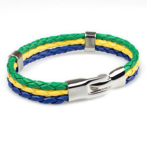 Buy 2018 Fashion National Flags Knitted Wrist Chain Bracelets