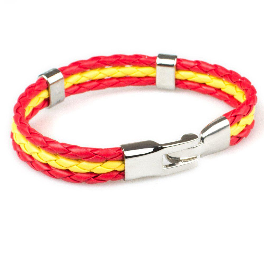 Best 2018 Fashion National Flags Knitted Wrist Chain Bracelets