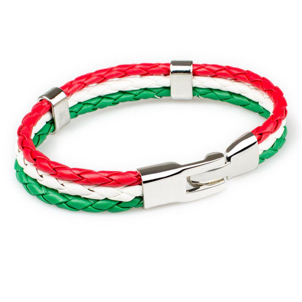 Chic 2018 Fashion National Flags Knitted Wrist Chain Bracelets