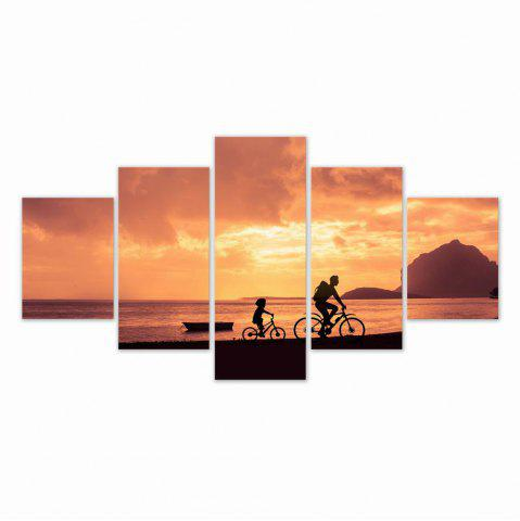 Fashion W316 Riding in the Sunset Unframed Wall Canvas Prints for Home Decorations 5PCS