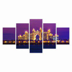 W317 Architectural Landsca Unframed Wall Canvas Prints for Home Decorations 5PCS -
