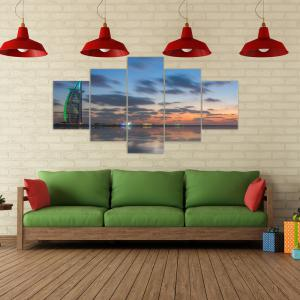 W321 Sunset Scenery Unframed Wall Canvas Prints for Home Decorations 5PCS -