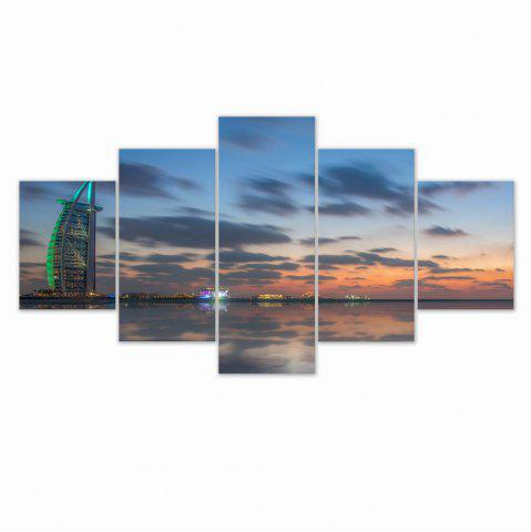 Outfits W321 Sunset Scenery Unframed Wall Canvas Prints for Home Decorations 5PCS
