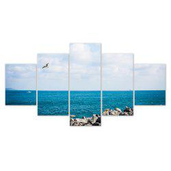 W323 Sea Landscape Unframed Wall Canvas Prints for Home Decorations 5PCS -