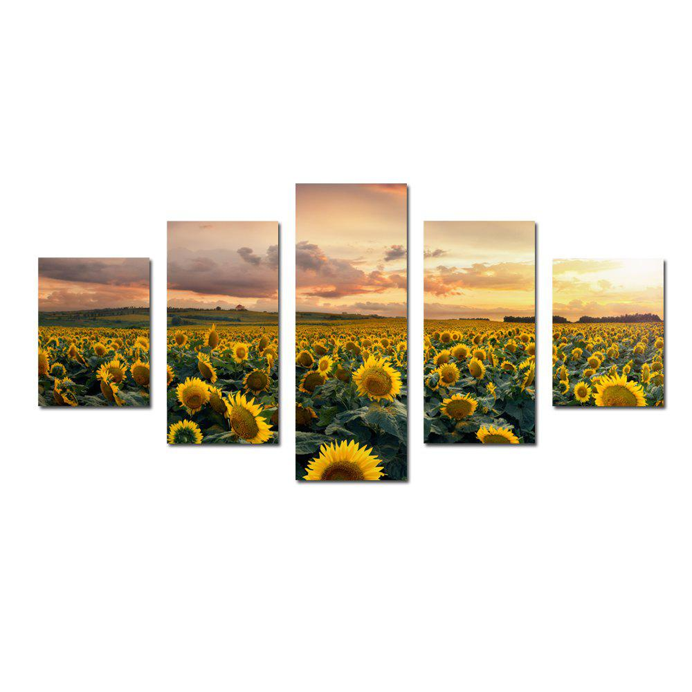 Outfits W332 Sunflowers Unframed Wall Canvas Prints for Home Decorations 5PCS