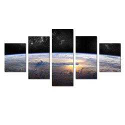 W339 Horizon Scenery Unframed Wall Canvas Prints for Home Decorations 5PCS -