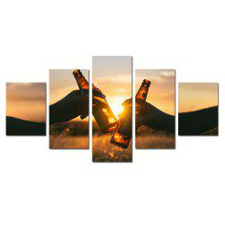 W341 Unique Landscape Unframed Wall Canvas Prints for Home Decorations 5PCS -