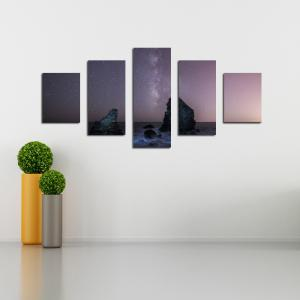 W345 Peaks Under The Stars Unframed Wall Canvas Prints for Home Decorations 5PCS -