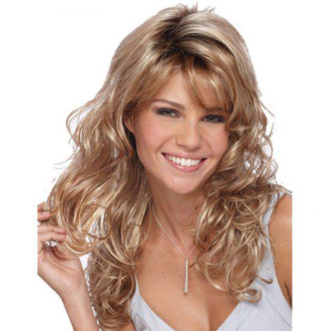 Gold Big Wave Long Curly Hair - Gold - 26inch