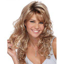 Gold Big Wave Long Curly Hair -
