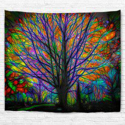 Glowing Tree 3D Printing Home Wall Hanging Tapestry for Decoration -