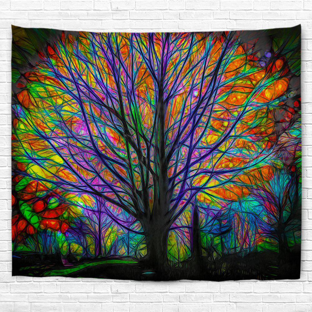 New Glowing Tree 3D Printing Home Wall Hanging Tapestry for Decoration