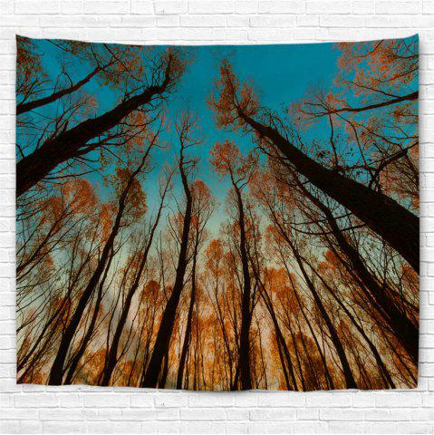 Unique Red Leaf Tree 3D Printing Home Wall Hanging Tapestry for Decoration