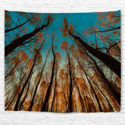 Red Leaf Tree 3D Printing Home Wall Hanging Tapestry for Decoration -