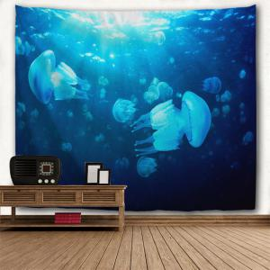 Undersea Jellyfish 3D Printing Home Wall Hanging Tapestry for Decoration -