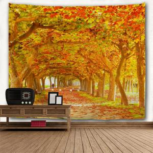 Red Maple Deciduous 3D Printing Home Wall Hanging Tapestry for Decoration -