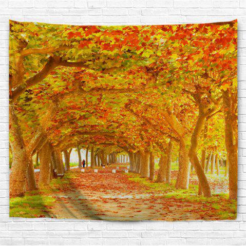 Trendy Red Maple Deciduous 3D Printing Home Wall Hanging Tapestry for Decoration