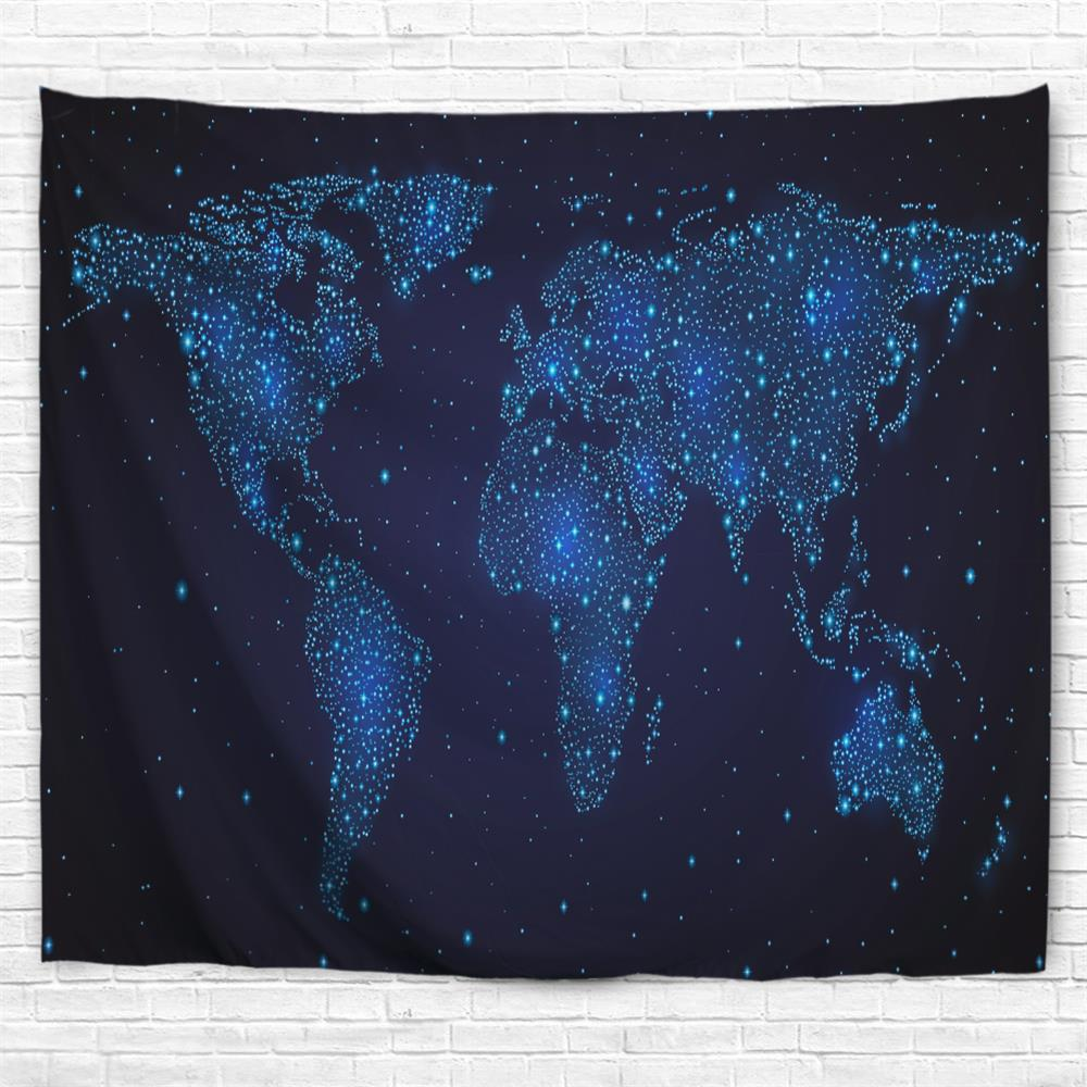 Fashion Star Map 3D Printing Home Wall Hanging Tapestry for Decoration