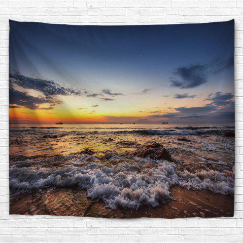 Unique Sunrise Beach 3D Printing Home Wall Hanging Tapestry for Decoration
