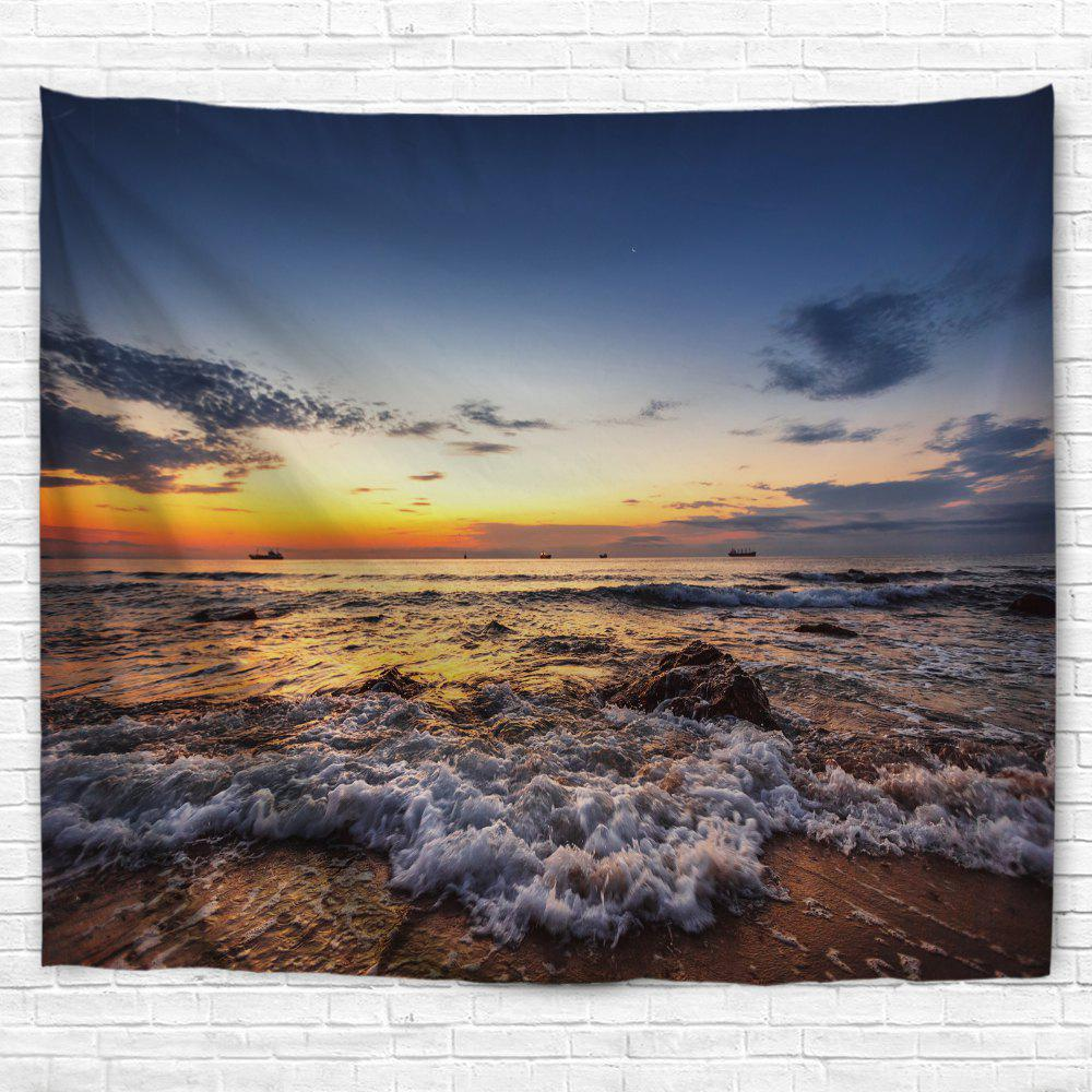 Affordable Sunrise Beach 3D Printing Home Wall Hanging Tapestry for Decoration