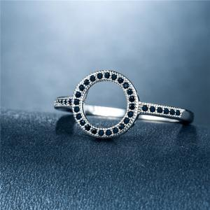 Fashion Simple Personality With Diamond Couple Ring -
