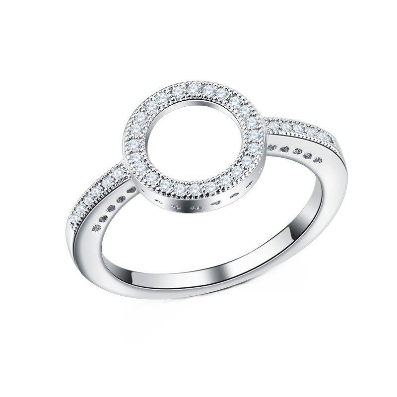 Outfit Fashion Simple Personality With Diamond Couple Ring