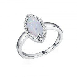 Fashion Artificial Opal  Couple Ring -