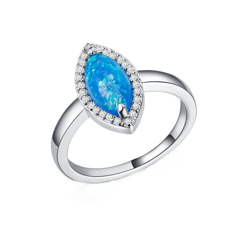 New Fashion Artificial Opal  Couple Ring