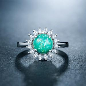 Fashion Artificial Opal Flower  Ring -