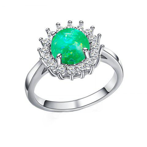 Discount Fashion Artificial Opal Flower  Ring