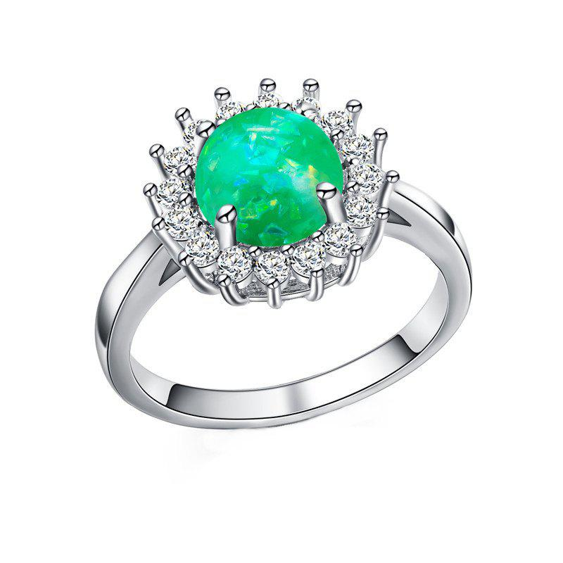 Online Fashion Artificial Opal Flower  Ring