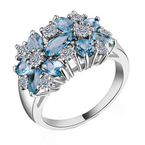Shop Artificial Diamond Crystal Flower Ring
