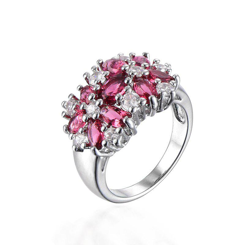 Outfits Artificial Diamond Crystal Flower Ring