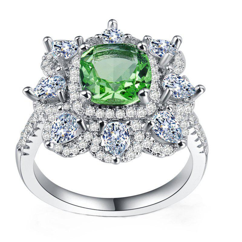 Outfit Fashion Crystal Green Party Ring
